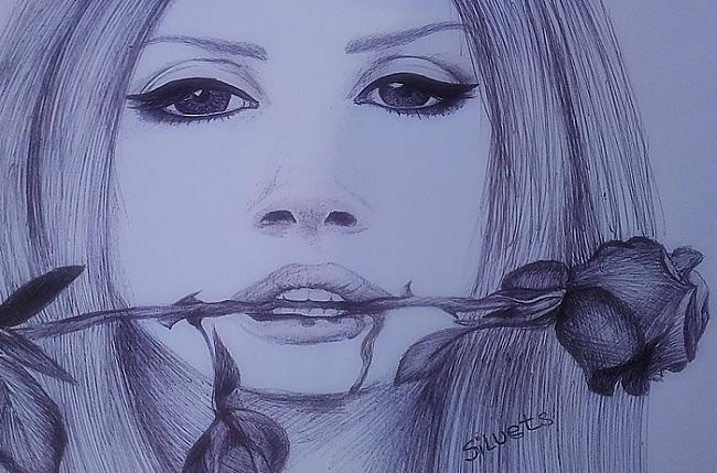 Ba dum bum tss Scaronis arī ir... Autors: Siluets Mēģinot zīmēt ar pildspalvu.