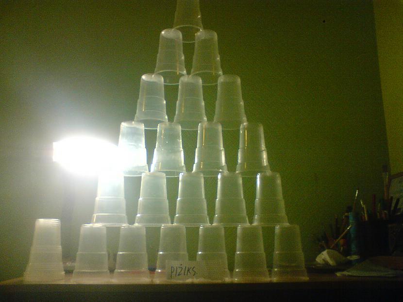 Autors: Pizhix [Labots.]Piramīdas plastmasas glāzes.