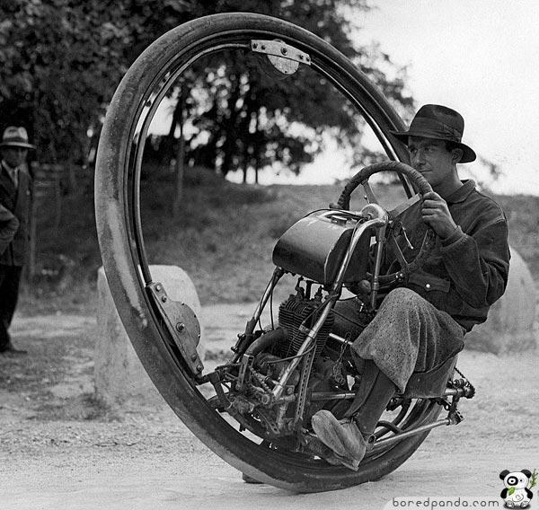 Vienas riepas motocikls... Autors: Fosilija 20.gs. trīsdesmito gadu izgudrojumi