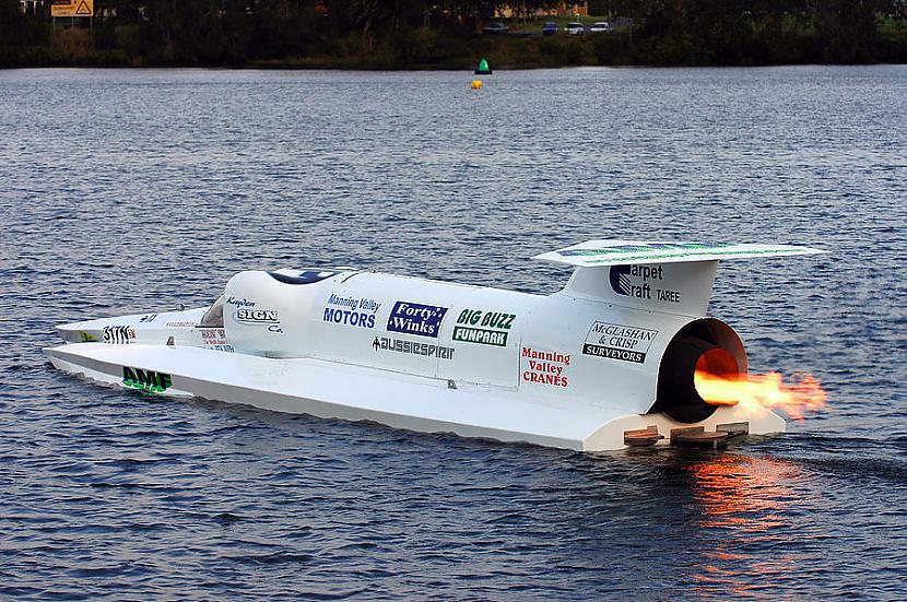 """Gadu vēlāk 1978 gada 8 oktobrī... Autors: Dzinchaaa Pasaules ātrākā motorlaiva - """"Spirit of Australia"""""""