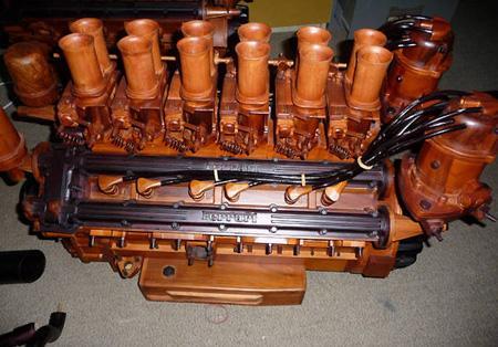 Ferari koka motorsV12Scarono... Autors: davids12345 Lietas no koka..