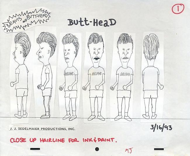 Beavis and Butthead 1993gads Autors: zhagata13 Multeņu varoņi mākslinieku skicēs