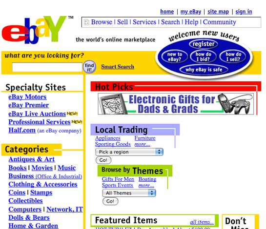 Ebaynbsp2001 gads nbsp Autors: MaziņšSusuriņšs Dažādas mājaslapas  pirms dažiem gadiem
