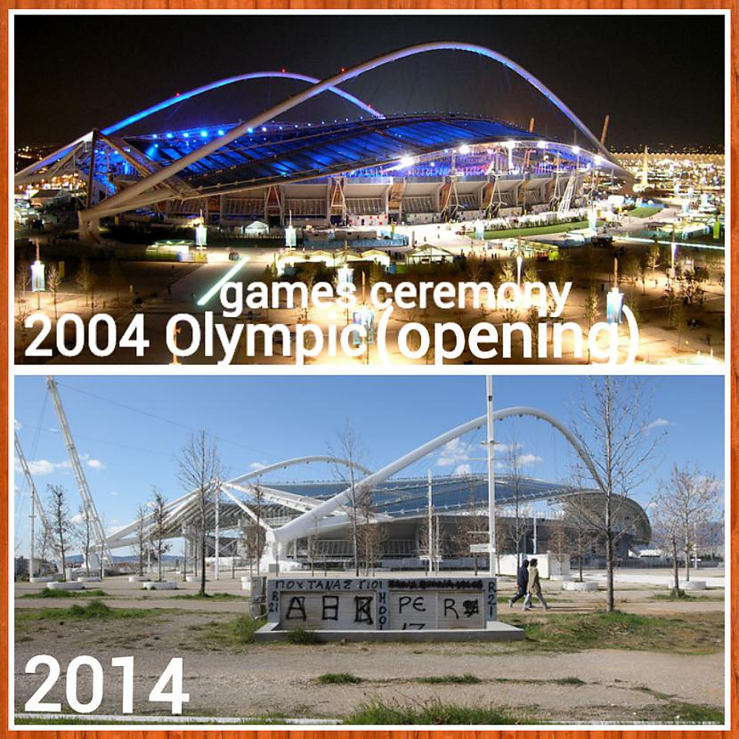 Kādreiz arhitektoniski... Autors: ghost07 Kā izskatās Atēnu olimpiskie objekti pēc 10 gadiem?