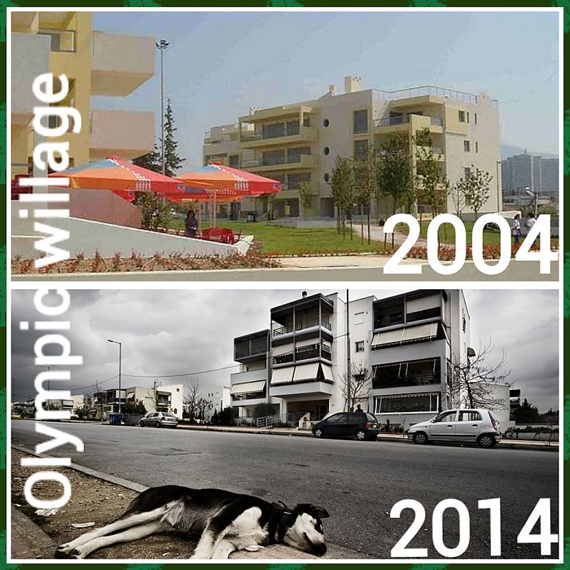 Olimpisko ciematu tagad... Autors: ghost07 Kā izskatās Atēnu olimpiskie objekti pēc 10 gadiem?