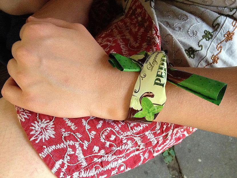 Aproce no saldējuma papīra Autors: Sveiksunvesels Zaļa aproce - BRĪVĪBAS simbols tiem, kuri nesmēķē!