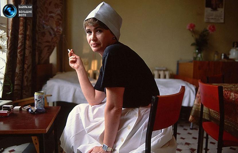 Kādas PSRS viesnīcas pavāre... Autors: ghost07 Dzīve padomju savienībā (17 unikālas, krāsainas fotogrāfijas)
