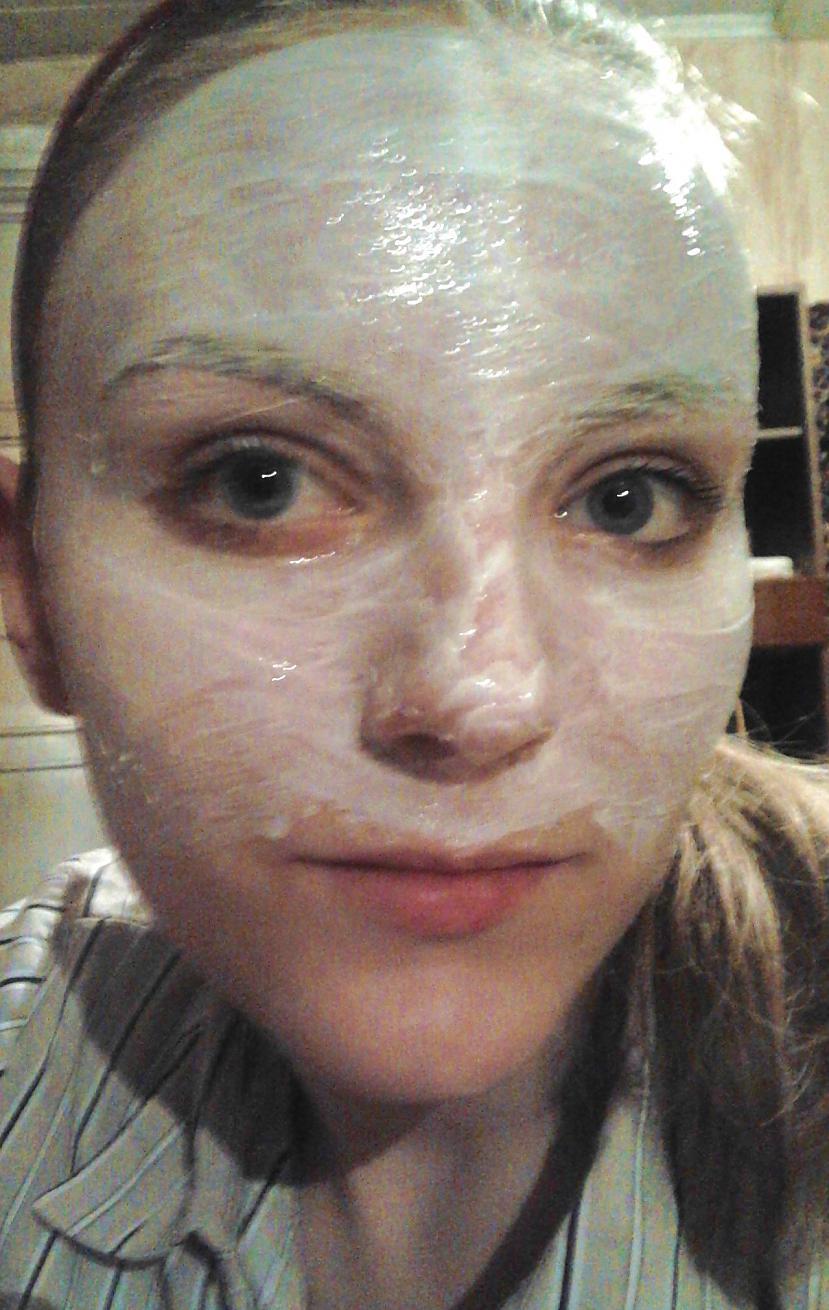 Nosmērēju vēlamo sejas daļu... Autors: Niknā mirāža Maska karnevālam