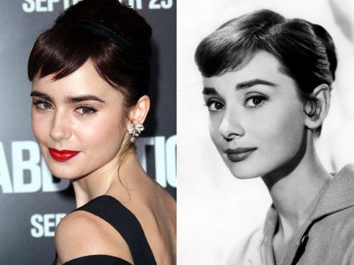 """Lily Collins  Audrey Hepburn Autors: VecisPaDzīvi Slavenības kuras """"Ceļo laikā"""""""
