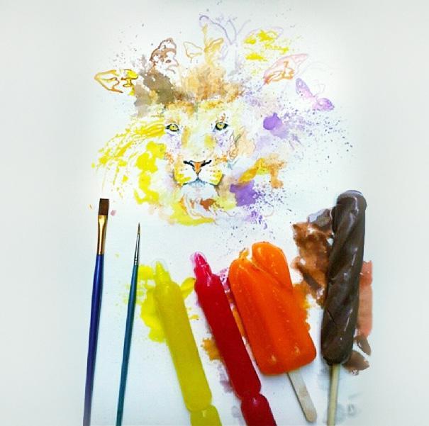 Autors: Fosilija Mākslinieks, kas krāsas vietā izmanto saldējumu!