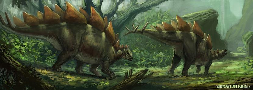 Stegozauram ir mazākās... Autors: Kapteinis Cerība Fakti par Dinozauriem 2. daļa.
