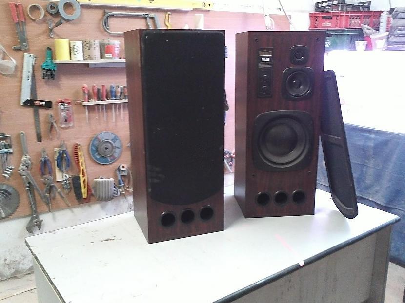 Ļoti labi skaļruņi jau kalpo... Autors: I Like to Make Stuff How made vintage style speakers 1/2