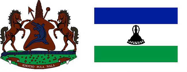 Lesoto ģērbonis un karogs Autors: Sulīgais Mandarīns Lesoto - augstākā valsts pasaulē