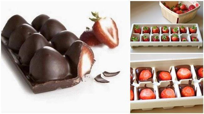 Šokolādes kubiciņi   Tas ir ne... Autors: Lords Lanselots 17 veidi, kā izmantot ledus formiņu!!!
