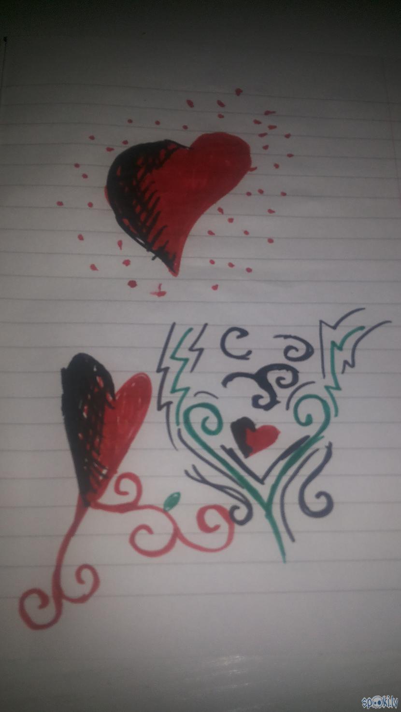 Te es mēģināju uzzīmēt kaut ko... Autors: rakstiins Ko es daru stundās