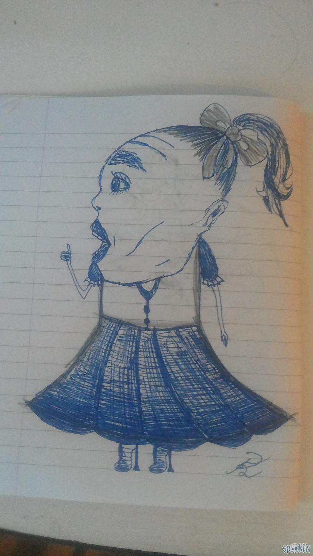 Nu nosākuma uzzīmēju ķeburu... Autors: rakstiins Ko es daru stundās