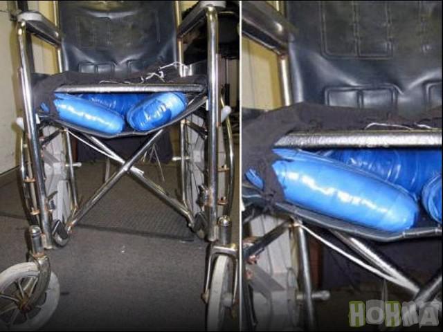 4Zālītes ratiņkrēsli2011gadā... Autors: rihcaa Narkotiku kontrabandas neveiksmīgie mēģinājumi.