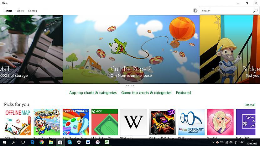 Veikals aplikācijas un... Autors: Fosilija Lietas, kas man patīk Windows 10