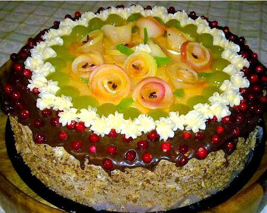 Torte ar āboku rozītēm želejā Autors: rasiks Dzimšanas dienai (2)