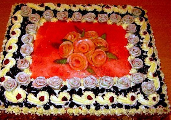 Kūka ar rozītēm un ōgu želeju Autors: rasiks Dzimšanas dienai (2)