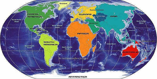 """Septiņas pasaules daļas ... Autors: korvete Brīnumainais skaitlis """"septiņi"""""""