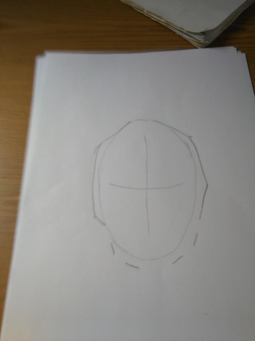 """Uzzīmejam kapuces... Autors: Fosilija """"Deadpool""""soli pa solim."""