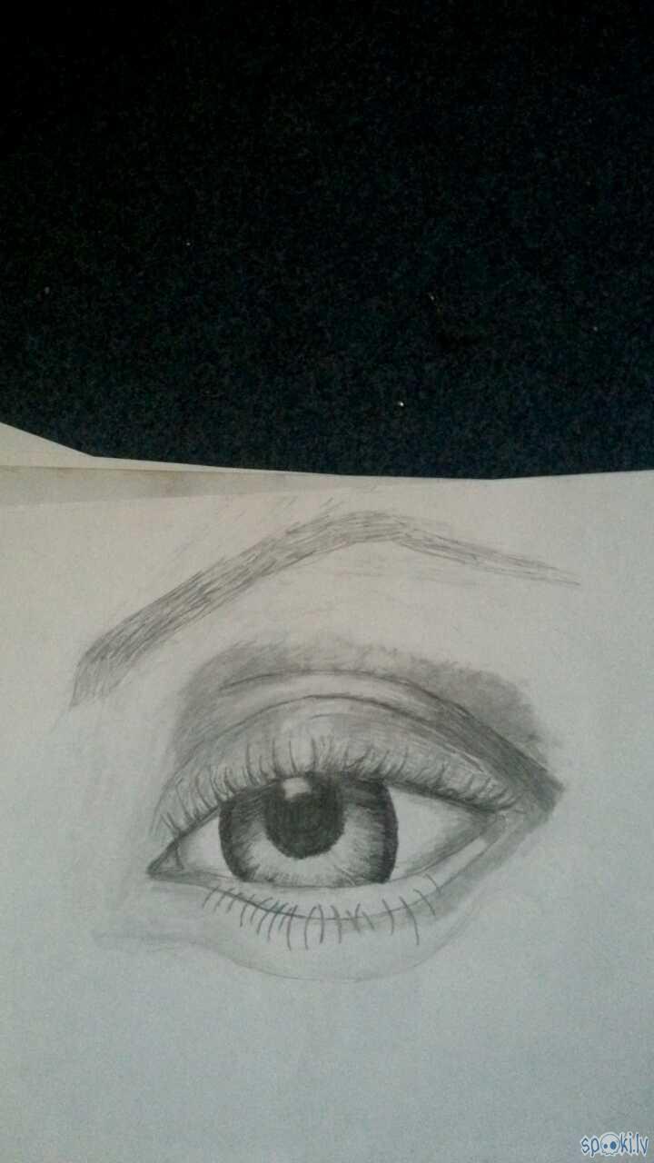 Lai izpalīdzetu zīmet acis... Autors: poldonsos Mani zīmējumi