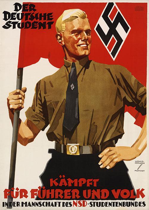 Karogs scaronajā plakātā man... Autors: Fosilija Nacistiskās Vācijas propaganda.