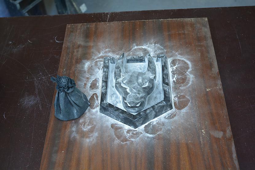 Talks lai nepieļautu... Autors: Fosilija Mans pirmais green sand casting projekts