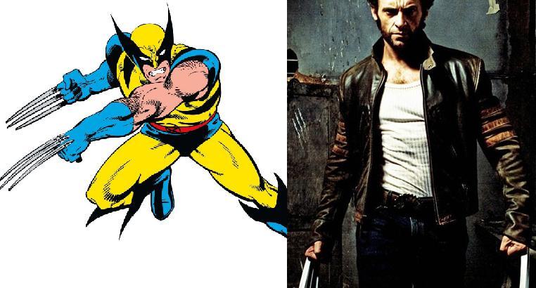 WolverineManuprāt mūsdienās... Autors: Agresīvais hakeris 5 supervaroņi, kuru izskats filmās krasi atšķiras no komiksiem! (1. daļa)