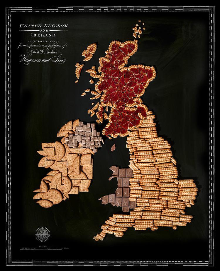 Lielbritānija un Īrija ... Autors: Sarius Viņi pārvērta ikoniskus ēdienus valstu un kontinentu kartēs.