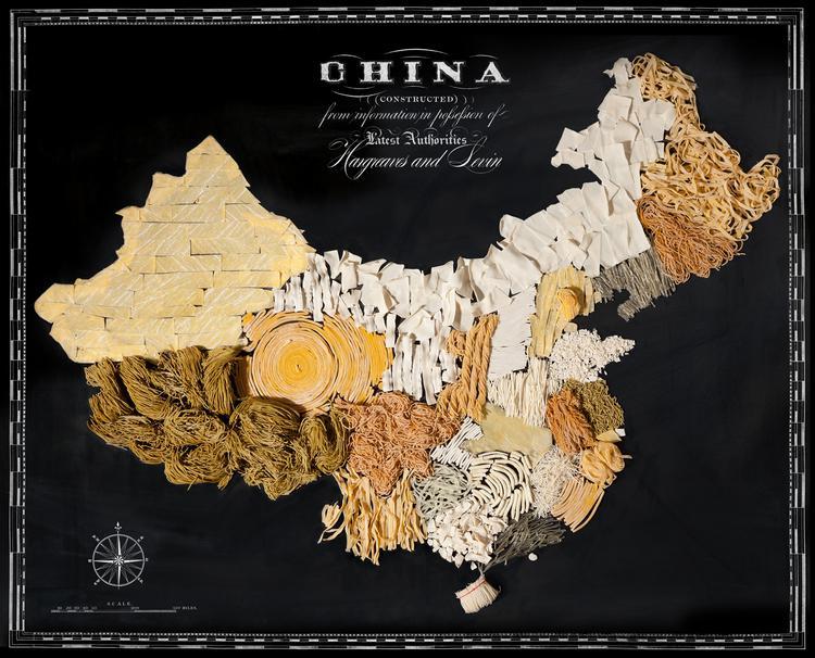 Ķīna  Nūdeles Autors: Sarius Viņi pārvērta ikoniskus ēdienus valstu un kontinentu kartēs.
