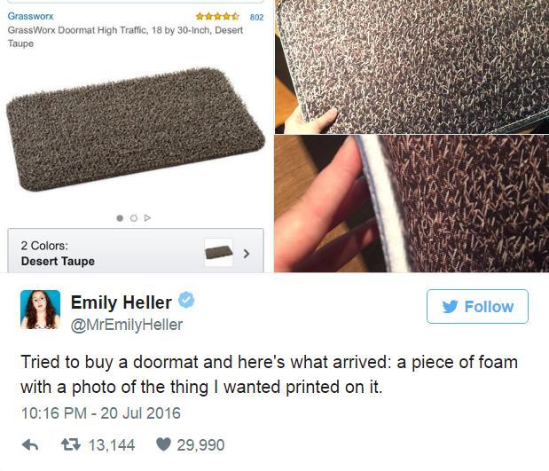 quotMēģināju nopirkt durvju... Autors: bebuljons Viņa interneta veikalā pasūtīja durvju paklājiņu...