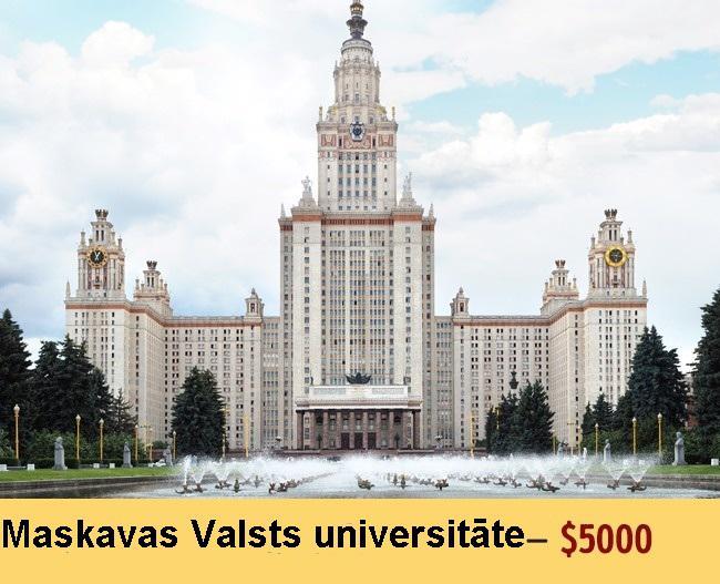 Autors: Jangbi Izglītības cenas dažādās Universitātēs.