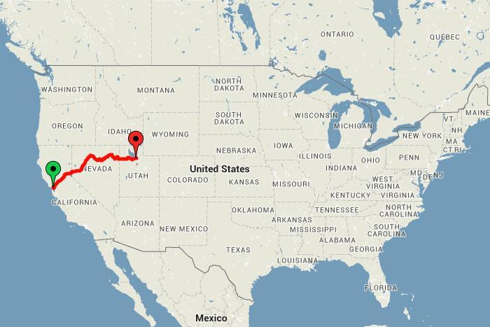 1 brauciensNo SanFrancisko... Autors: bananchik Šķērsojam Ameriku ar vilcienu
