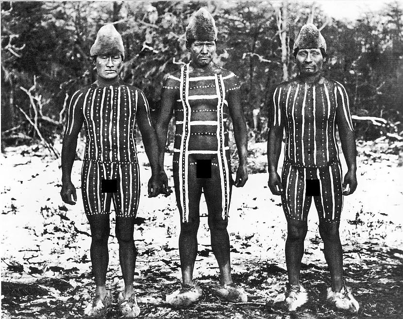 Gusinde pirmo reizi devās... Autors: Lestets Selk'nam cilts no Tierra del Fuego