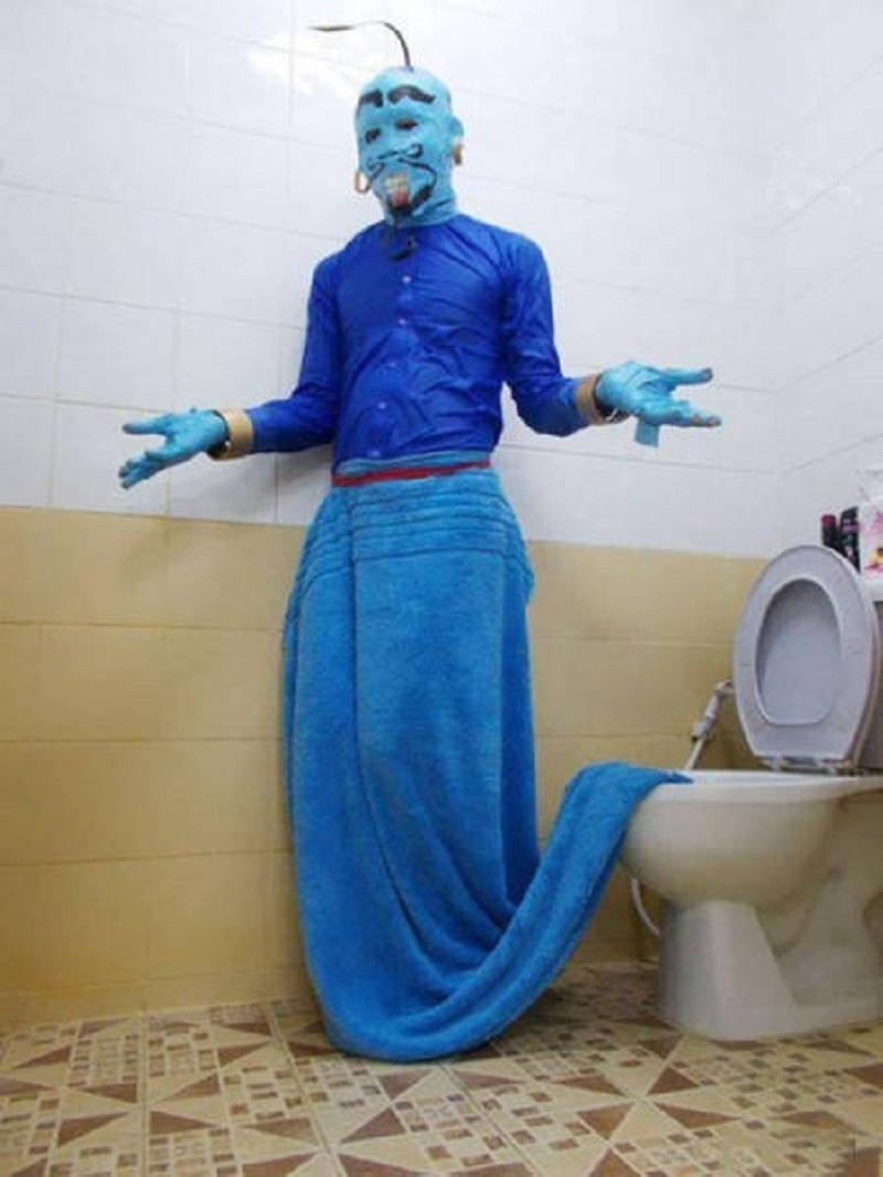 Autors: Mao Meow Tagad džinu var izsaukt arī paberzējot tualetes podu!