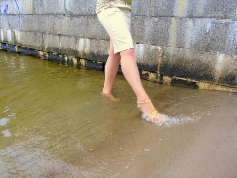 Autors: Fosilija Blue Sea Ribbon sērija: rīta pastaiga pie ūdeņiem - 4