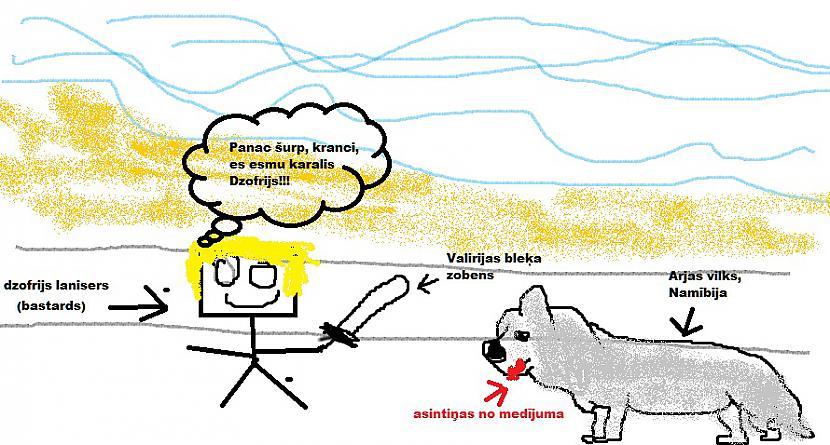 Te Džofrijam iekož rokā suns... Autors: Vinnīts Paint zīmējumi!
