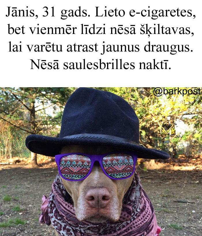 Autors: matilde 10+ suņu profila bio, kas smieklīgā kārtā atgādinās Tev par kādu, kuru Tu zini