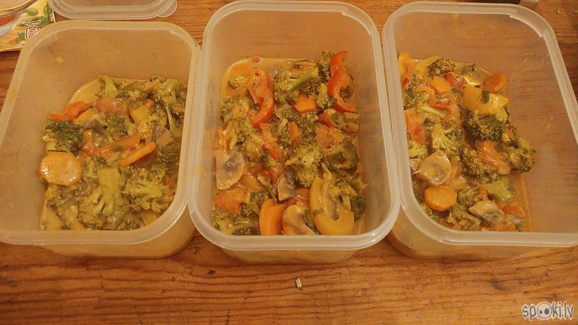 Tā kā gatavoju darba nedēļai... Autors: shnaps Karija dārzeņu sautējums taizemiešu gaumē