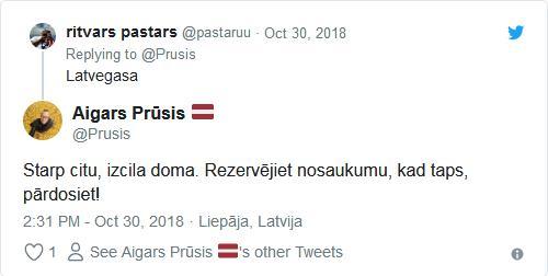 Starp citu izcila doma... Autors: Raivozs Latvegasa - Twitter lietotāji apspriež ideju Latgalē veidot vietējo Lasvegasu