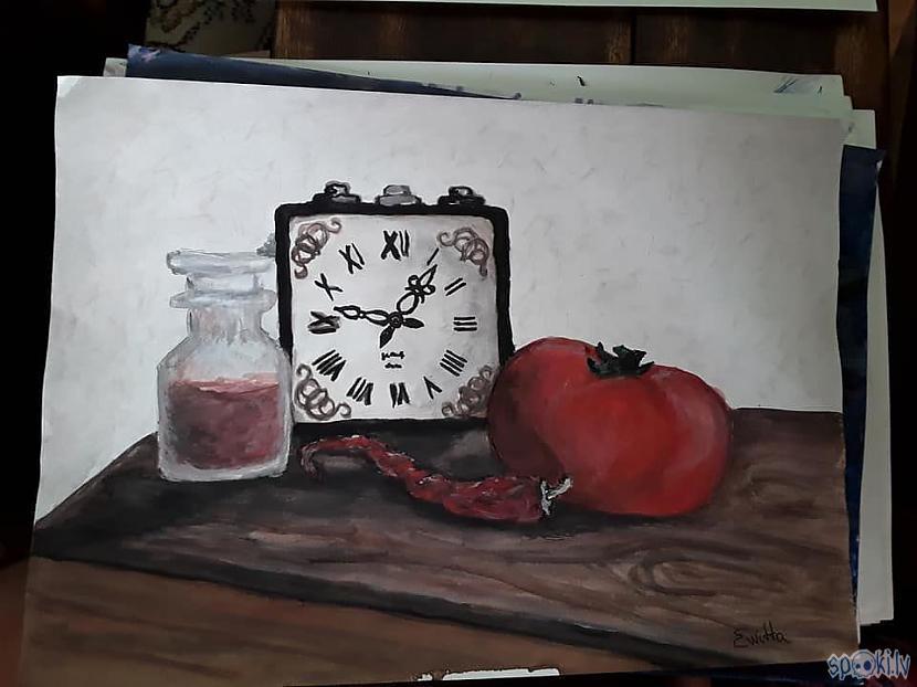 pulkstenis ar pipariem vispār... Autors: azulum Vēl daži zīmējumi