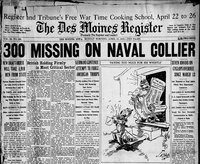 Pēc pamatīgas un... Autors: Testu vecis Bermudu trijstūra mistērija: Kas notika ar ASV ogļu transportkuģi USS Cyclops?