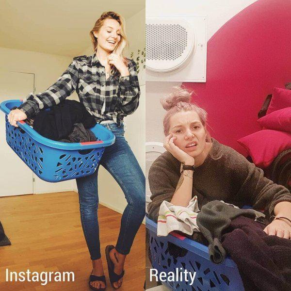 Autors: Fosilija Divu paralēlu realitāšu kontrastu Instagram parāda meitene no Šveices