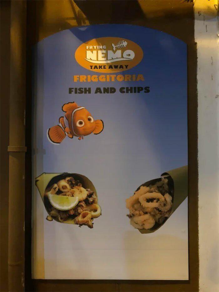 Viņi nogalināja Nemo Autors: Fosilija 30 reizes, kad restorānu dizaineri cieta graujošu fiasko