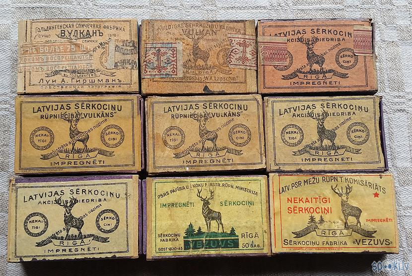 """Sērkociņu kastītes ar briedi ... Autors: pyrathe Mana """"Vulkāna"""" sērkociņu kastīšu kolekcija"""