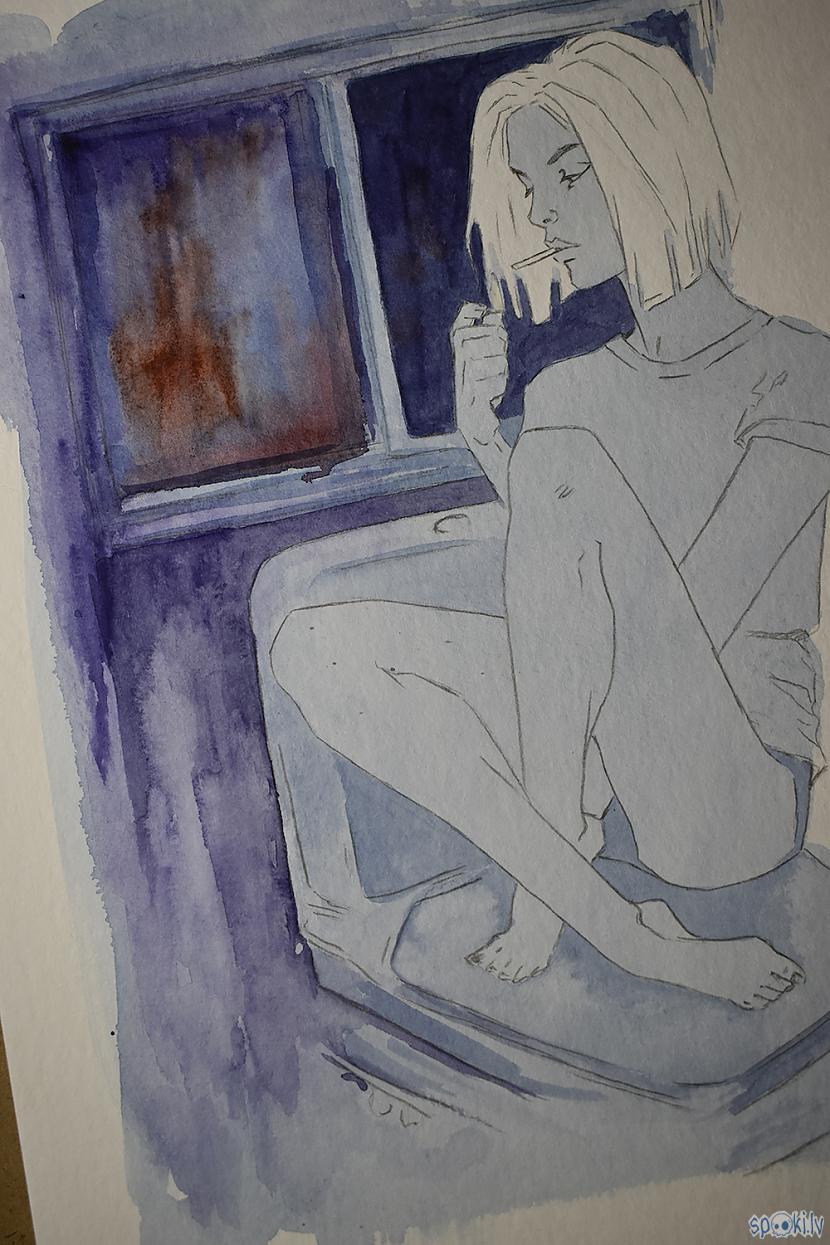 Pirmie krāsas klājieni Autors: Madder Sirsniņdiena 2021 (No skices līdz Krāsai)