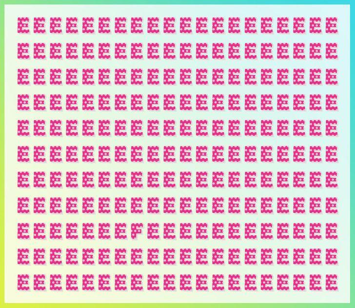 Atbilde zemāk darr Autors: matilde Tests acīgajiem: Vari dažu sekunžu laikā atrast atšķirīgos burtus šajos attēlos?