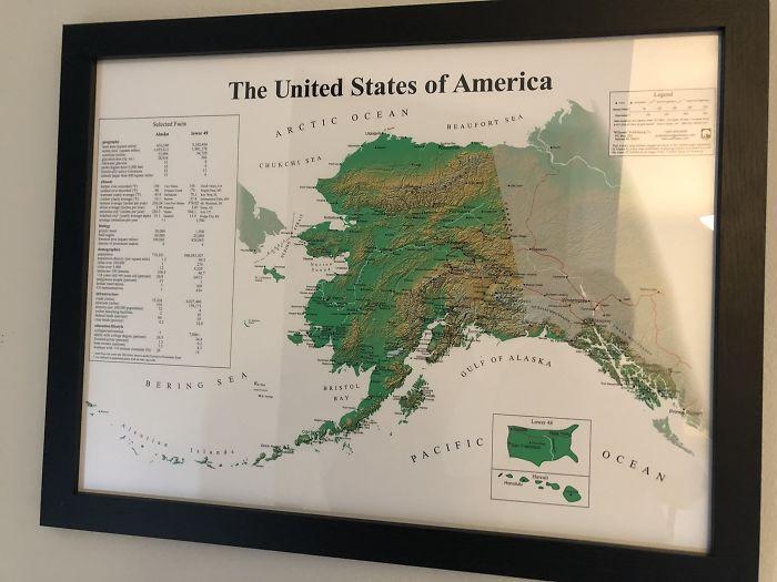 ASV no Aļaskas perspektīvas Autors: Lestets 20 neparastas kartes, kas var mainīt perspektīvu